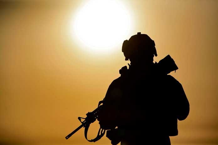 Soldier Silhouette - help our heroes