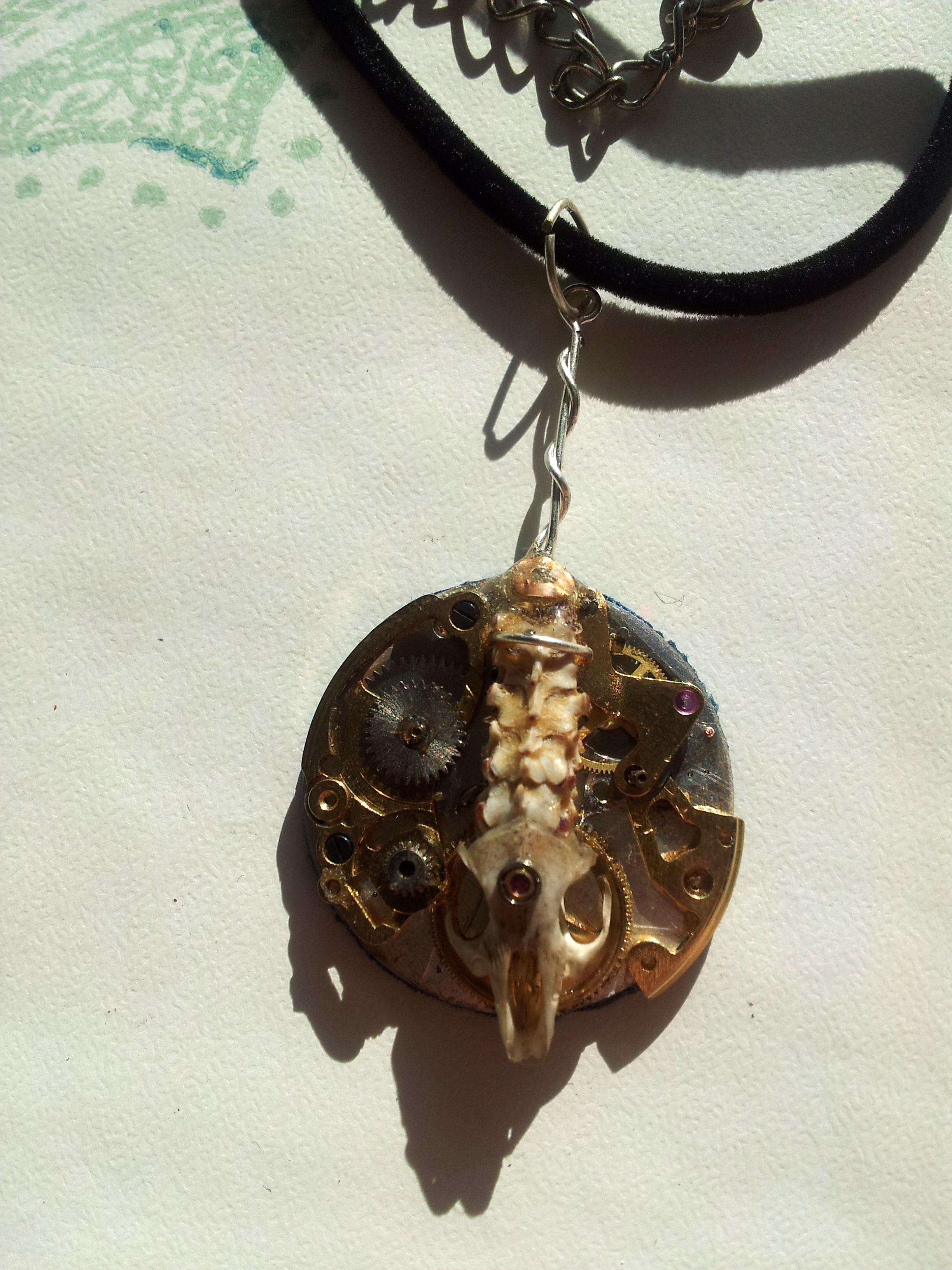 Clockwork Rodent Pendant