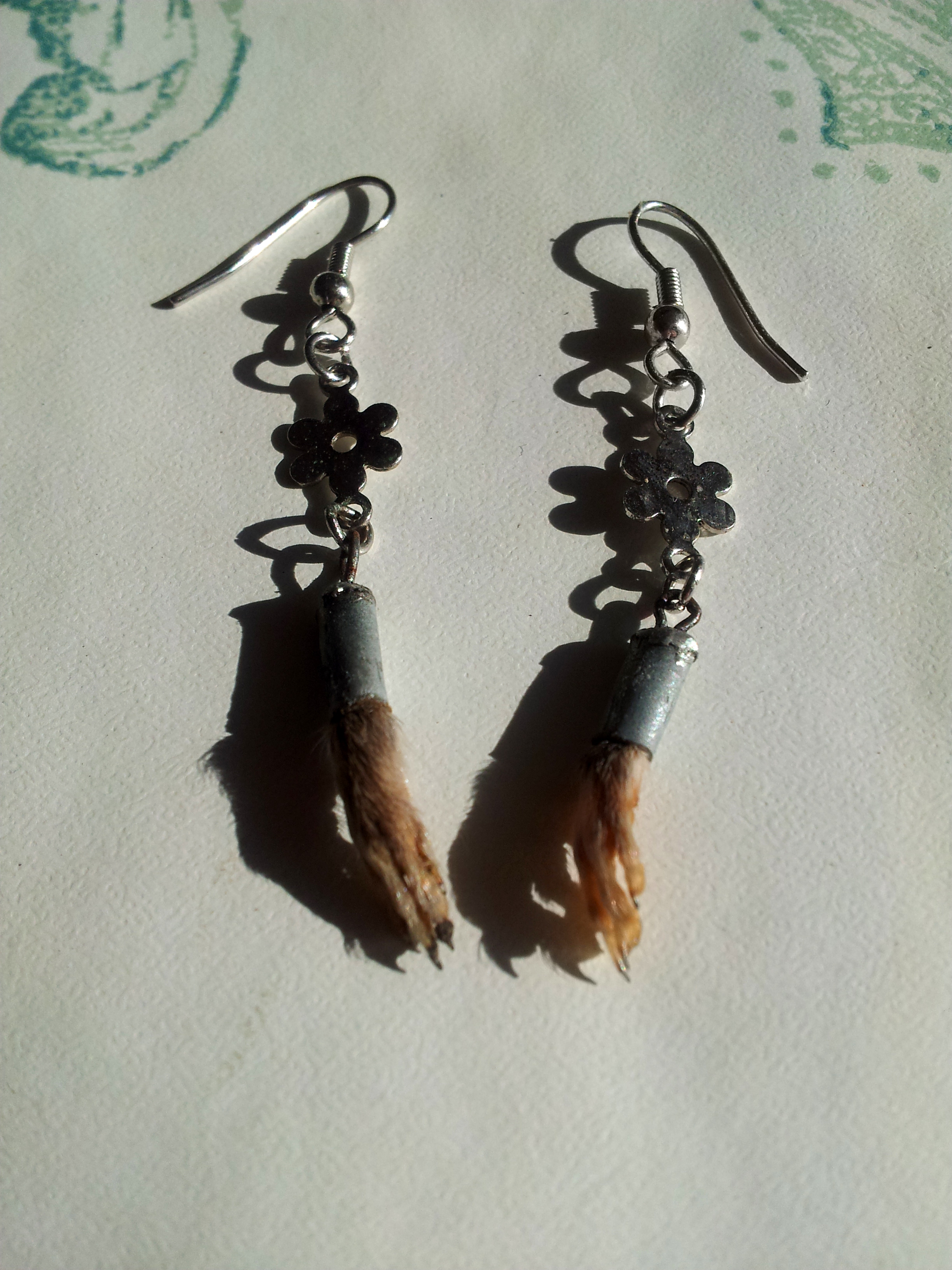 Rat Foot Flower Earrings