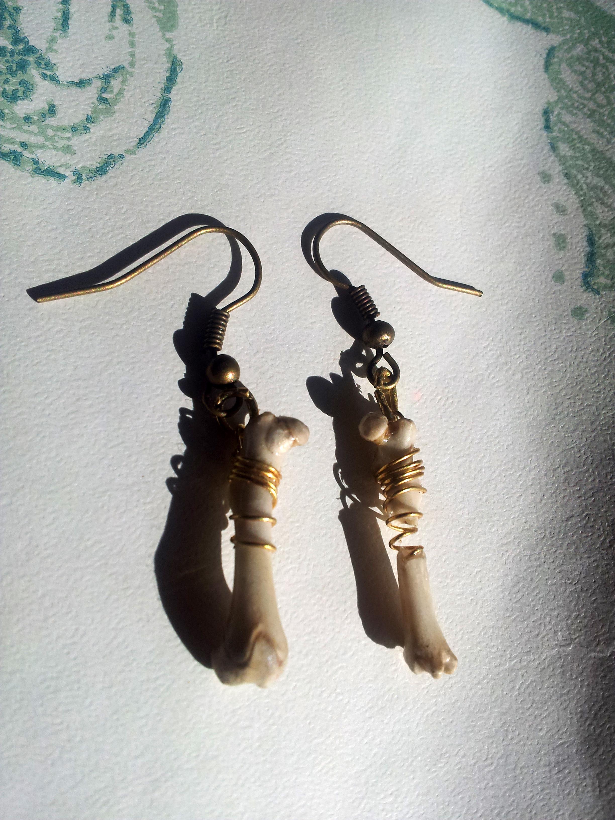 Rat Bone Earrings